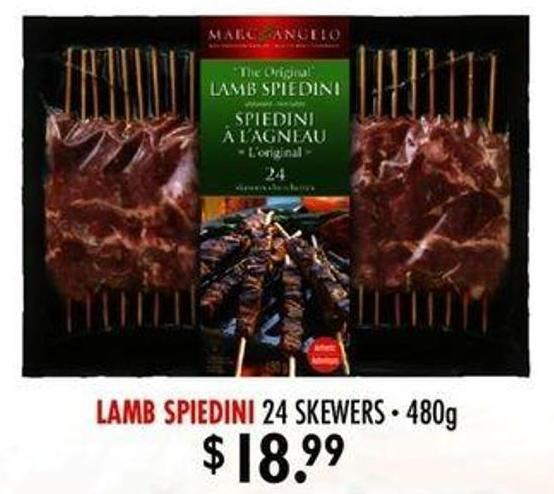 Lamb Spiedini 24 Skewers - 480g