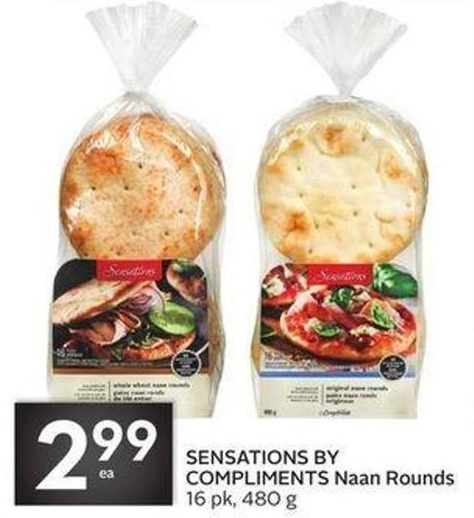 Sensations By Compliments Naan Rounds