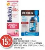 Buckley's Jack And Jill Liquid (115 Ml) Benylin Lozenges (20's) or Otrivin Medicated Nasal Spray (20ml-30ml)