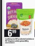 Lundberg Rice - 907 G Or PC Organics White Quinoa - 800 G