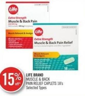 Life Brand Muscle & Back Pain Relief Caplets