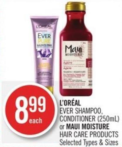 L'oréal  Ever Shampoo - Conditioner (250ml) Hair Care Products