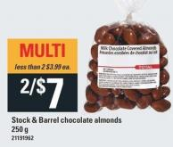Stock & Barrel Chocolate Almonds