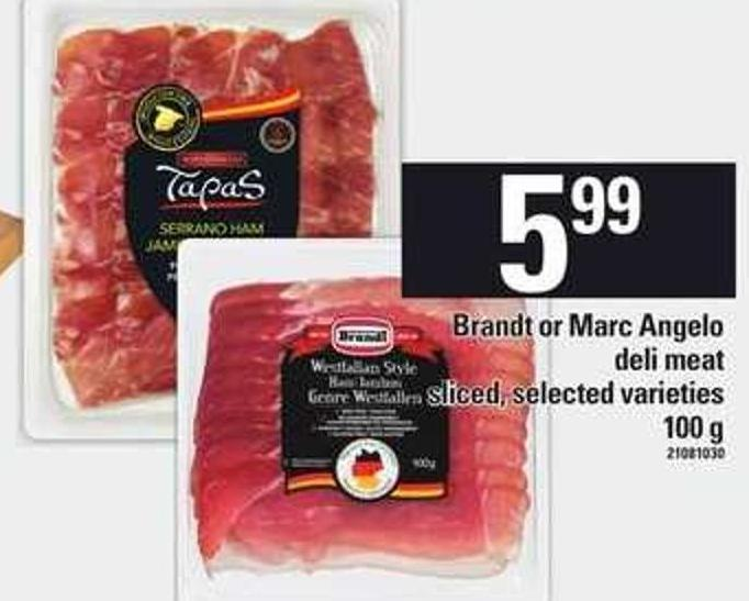 Brandt Or Marc Angelo Deli Meat - 100 g