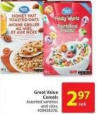 Great Value Cereals