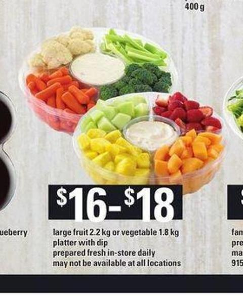 Large Fruit - 2.2 Kg Or Vegetable - 1.8 Kg Platter With Dip