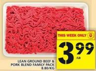 Lean Ground Beef & Pork Blend Family Pack