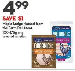 Maple Lodge Natural From The Farm Deli Meat 100-175g Pkg