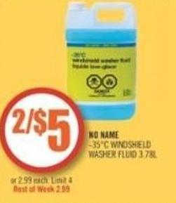No Name -35°c Windshield Washer Fluid 3.78l