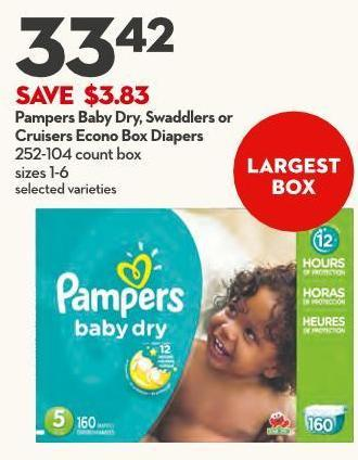 Pampers Baby Dry - Swaddlers O Cruisers Econo Box Diapers