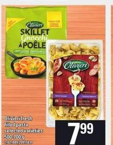 Olivieri Fresh Filled Pasta - 500-700 g