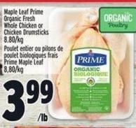 Yorkshire Valley Farms Organic Fresh Whole Chicken Or Chicken Drumsticks