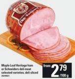 Maple Leaf Heritage Ham Or Schneiders Deli Meat