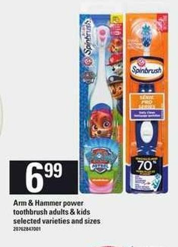 Arm & Hammer Power Toothbrush Adults & Kids