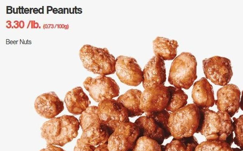 Buttered Peanuts