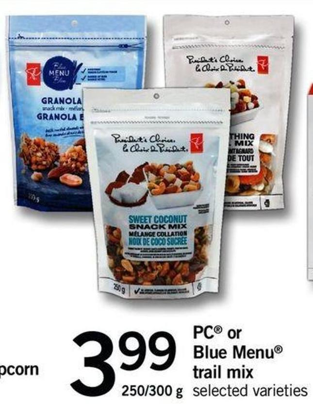 PC Or Blue Menu Trail Mix - 250/ 300 G