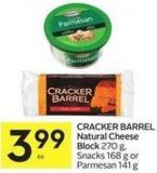Cracker Barrel Natural Cheese Block 270 g - Snacks 168 g or Parmesan 141 g