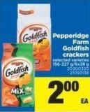 Pepperidge Farm Goldfish Crackers - 156-227 g - 6x28 g