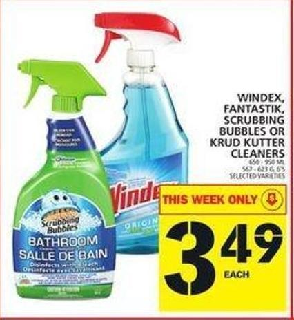 Windex - Fantastik - Scrubbing Bubbles Or Krud Kutter Cleaners