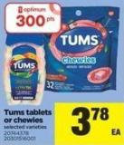 Tums Tablets Or Chewies