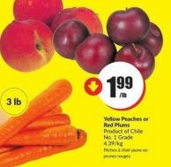 Yellow Peaches or Red Plums Product of Chile No. 1 Grade 4.39/kg