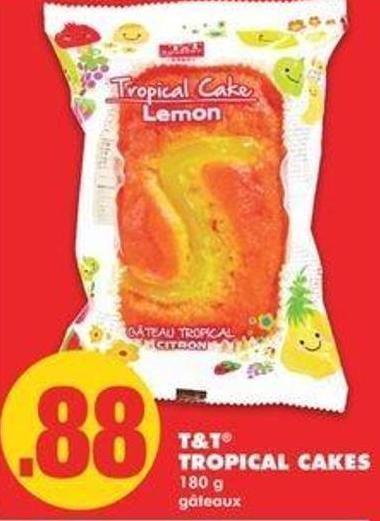 T&t Tropical Cakes - 180 G