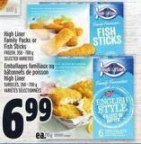 High Liner Family Packs Or Fish Sticks