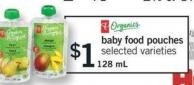 Baby Food Pouches - 128 mL