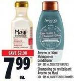 Aveeno Or Maui Shampoo Or Conditioner 354 - 385 ml