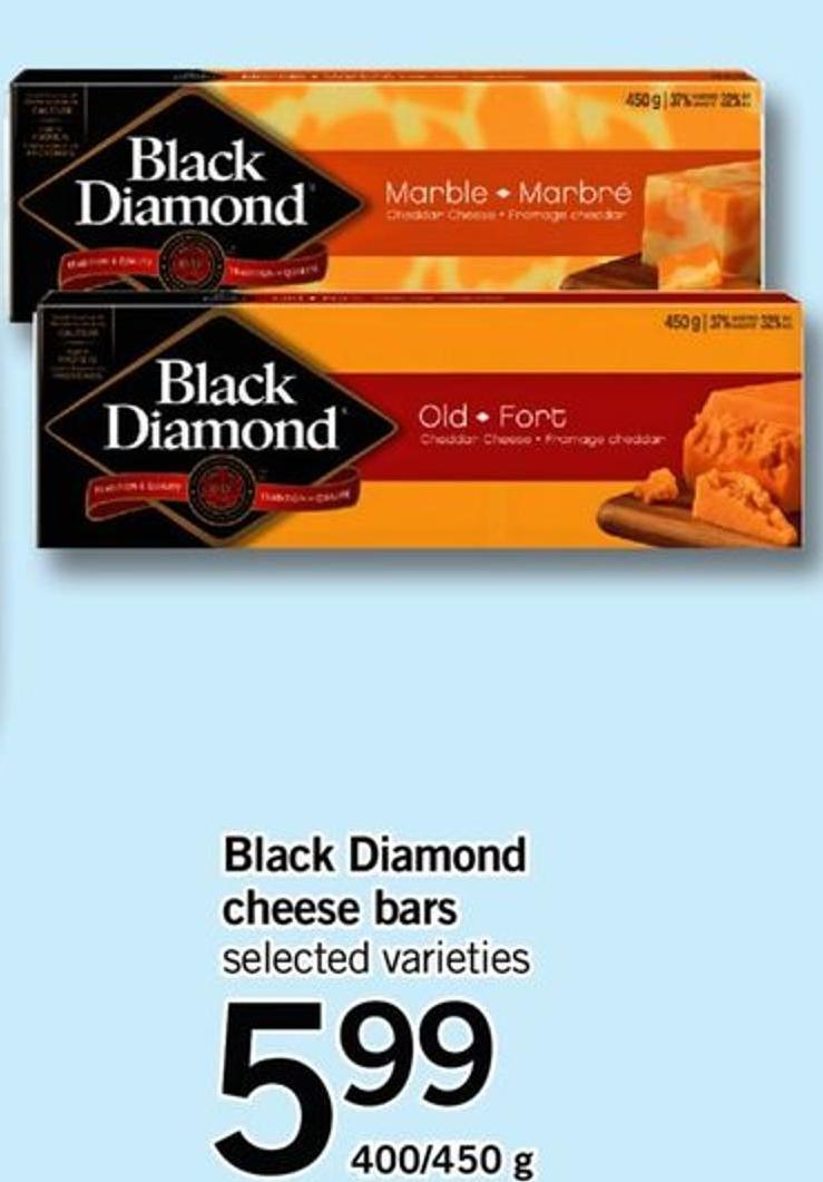 Black Diamond Cheese Bars - 400/450 G