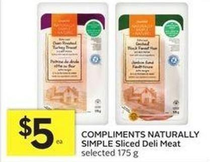 Compliments Naturally Simple Sliced Deli Meat