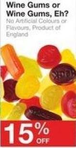 Wine Gums or Wine Gums - Eh?