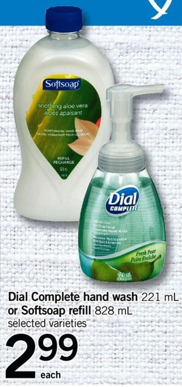 Dial Complete Hand Wash - 221 Ml Or Softsoap Refill - 828 Ml
