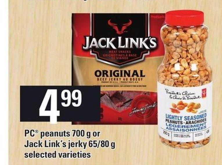 PC Peanuts 700 G Or Jack Link's Jerky 65/80 G