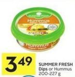 Summer Fresh Dips or Hummus 200-227 g