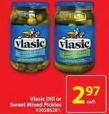 Vlasic Dill or Sweet Mixed Pickles