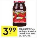 Smucker's Pure - No Sugar Added or Double Fruit Jams