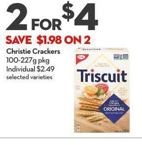 Christie Crackers 100-227g Pkg