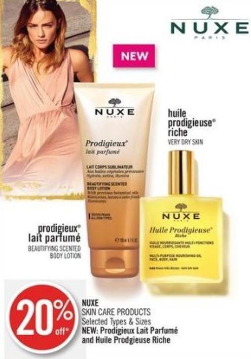 Nuxe Skin Care Products