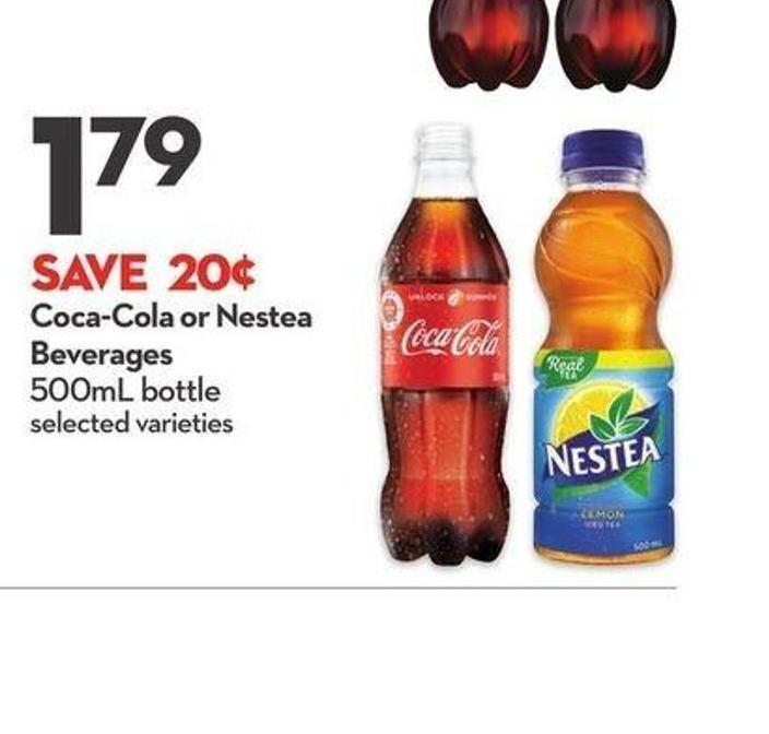 Coca-cola or Nestea Beverages