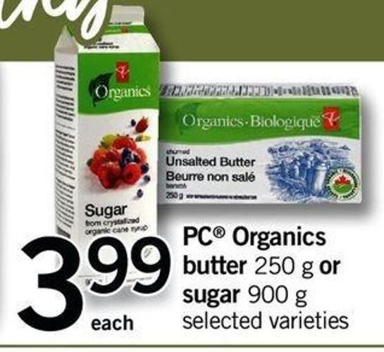 PC Organics Butter - 250 G Or Sugar - 900 G