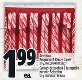 Selection Peppermint Candy Canes