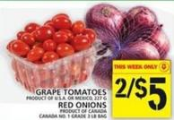 Grape Tomatoes Or Red Onions