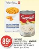 Campbell's Condensed (284ml) - Nongshim Noodle (75g) Soup or PC Macaroni & Cheese Dinner