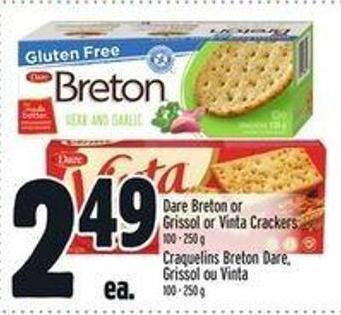Dare Breton Or Grissol Or Vinta Crackers