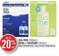 Bio-true (300ml) - Renu or Solocare (355ml) Multipurpose Solution Twin Pack