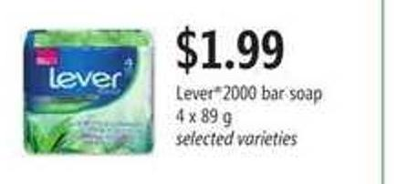 Lever2000 Bar Soap - 4 X 89 G