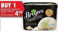 Breyers Ice Cream Or Frozen Dessert