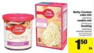 Betty Crocker Cake Mix - 432/461 G - Cookie Mix - 177-212 G Or Frosting - 340/450 G