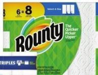 Bounty Selected Paper Towels - 6=8 Rolls